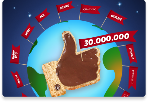 30 Million Friends Reached on Facebook | Nutella