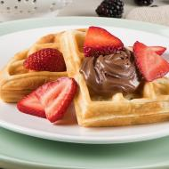 Belgian waffle with berries and Nutella®