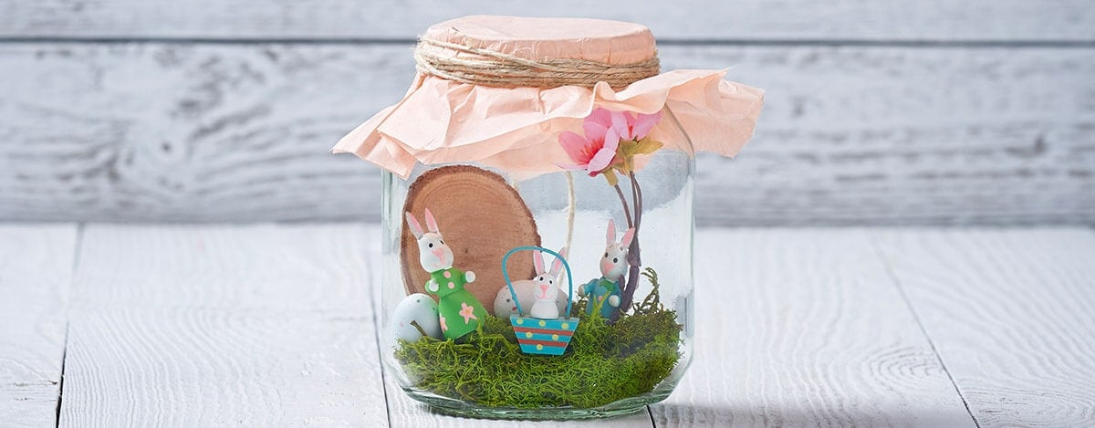 Nutella Easter Jar Decorated With Bunnies Eggs Diy Idea