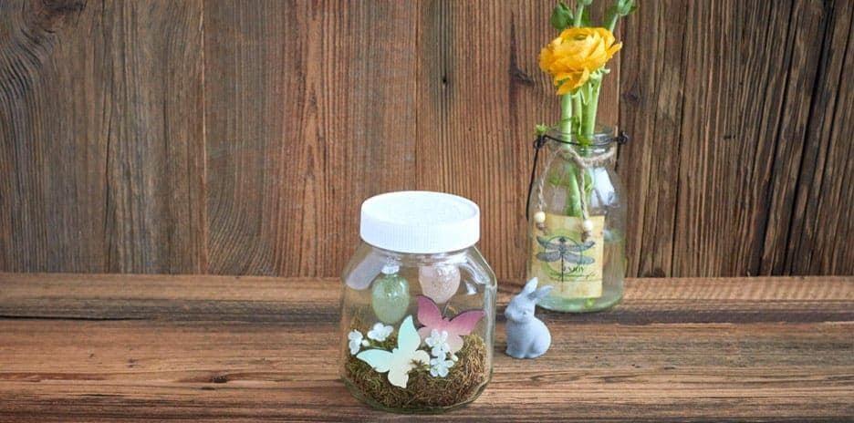 Nutella Easter Jar Decorated With Bunnies Eggs Diy Idea