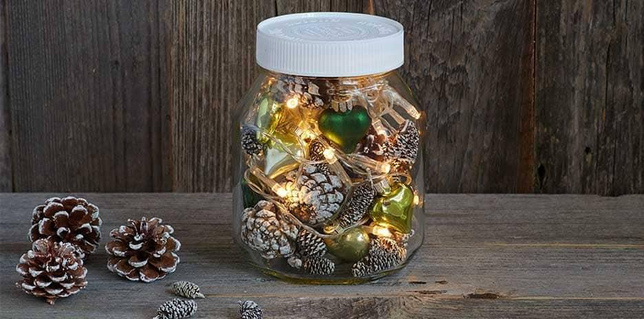 Christmas Holiday Nutella Jar Decoration Diy Idea
