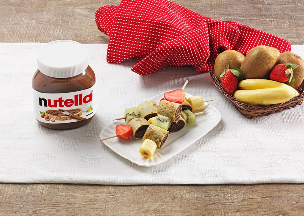 Crepe Skewers With Nutella Recipes Nutella Recipe