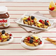 Wafels met Nutella® en fruit