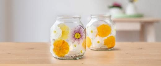 Do it Yourself Home ideas. Nutella® Flower power candle
