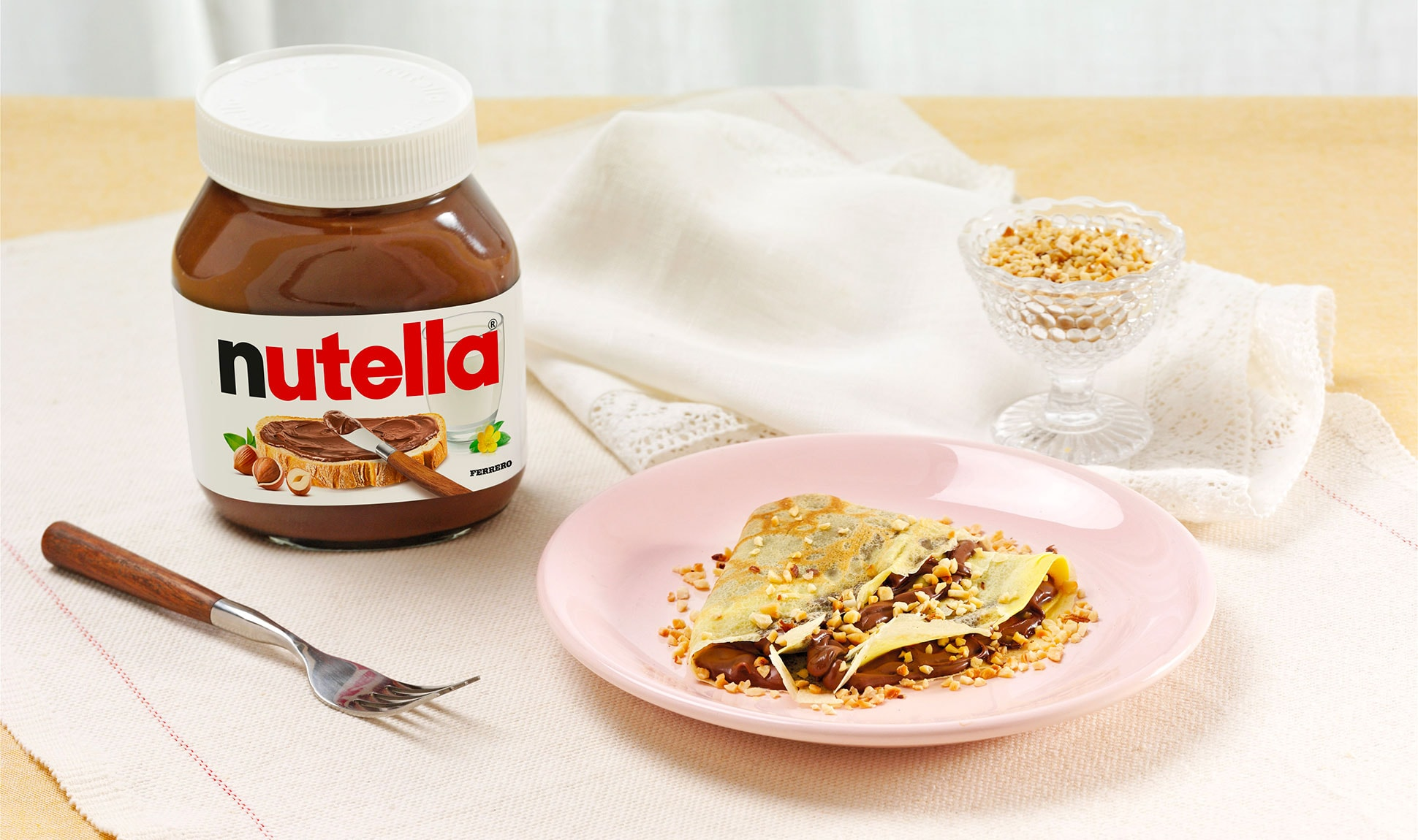 Crepes With Nutella And Hazelnuts Recipes Nutella Recipe