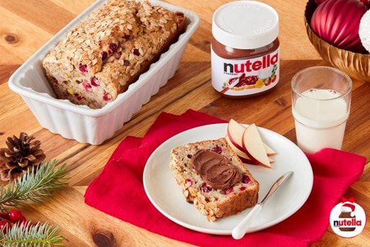 Cranberry and Nut Banana Bread with NUTELLA® hazelnut spread | Nutella